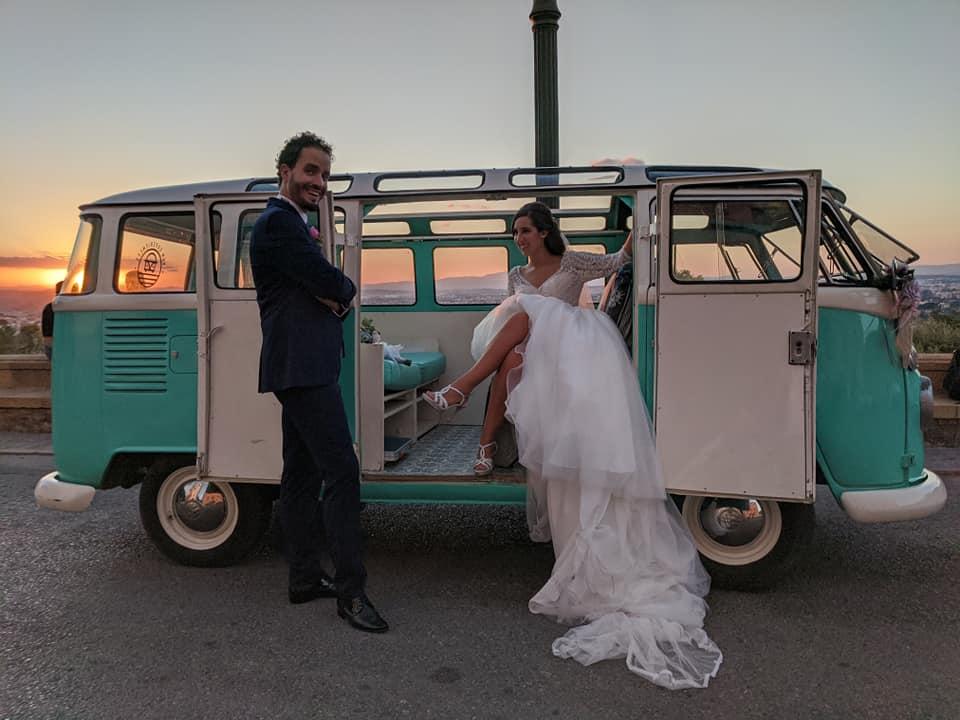 celebración de boda con furgoneta clásica alquilada murcia